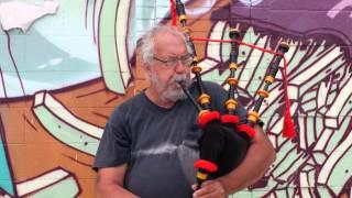 Striking Contrast , Graffiti and Bag Pipes
