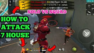 FREE FIRE || How To Kill Whole Squad In Brasilia 7 House - SOLO VS SQUAD PRO TIPS AND TRICKS TAMIL