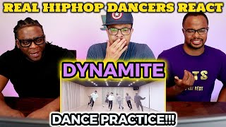 REAL Hip Hop DANCERS React to BTS Dynamite Dance Practice!!
