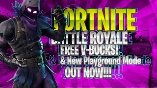 🔴 Fortnite Battle Royale New Playground LTM Coming Soon!!! | 7,500 v-bucks Giveaway!!!