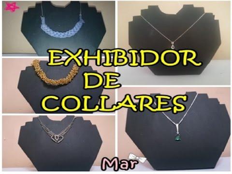 7a2255b9c9ba Exhibidor de collares el mas facil de hacer ✄ reciclando cartón ✿ Mar -  YouTube