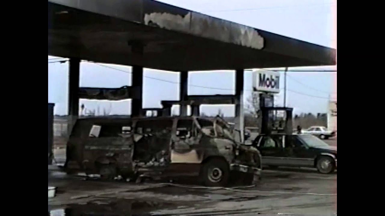 WGOH - Van Fire at Champlain Mobile  4-8-95