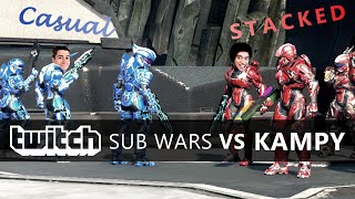 Halo 5 - Twitch Sub Wars // Stacked Vetoed Squad vs. KAMPY Casual Squad