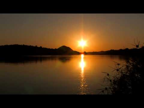 Sky Time Lapse HD - Sunset Sky Over a River in Africa Time Lapse HD