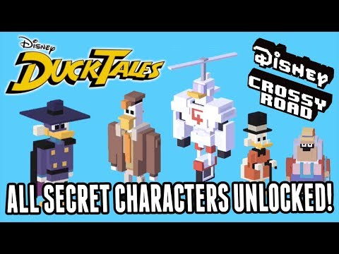 DUCKTALES Disney Crossy Road ALL SECRET CHARACTERS UNLOCKED!  Scrooge, Launchpad, Magica & More!