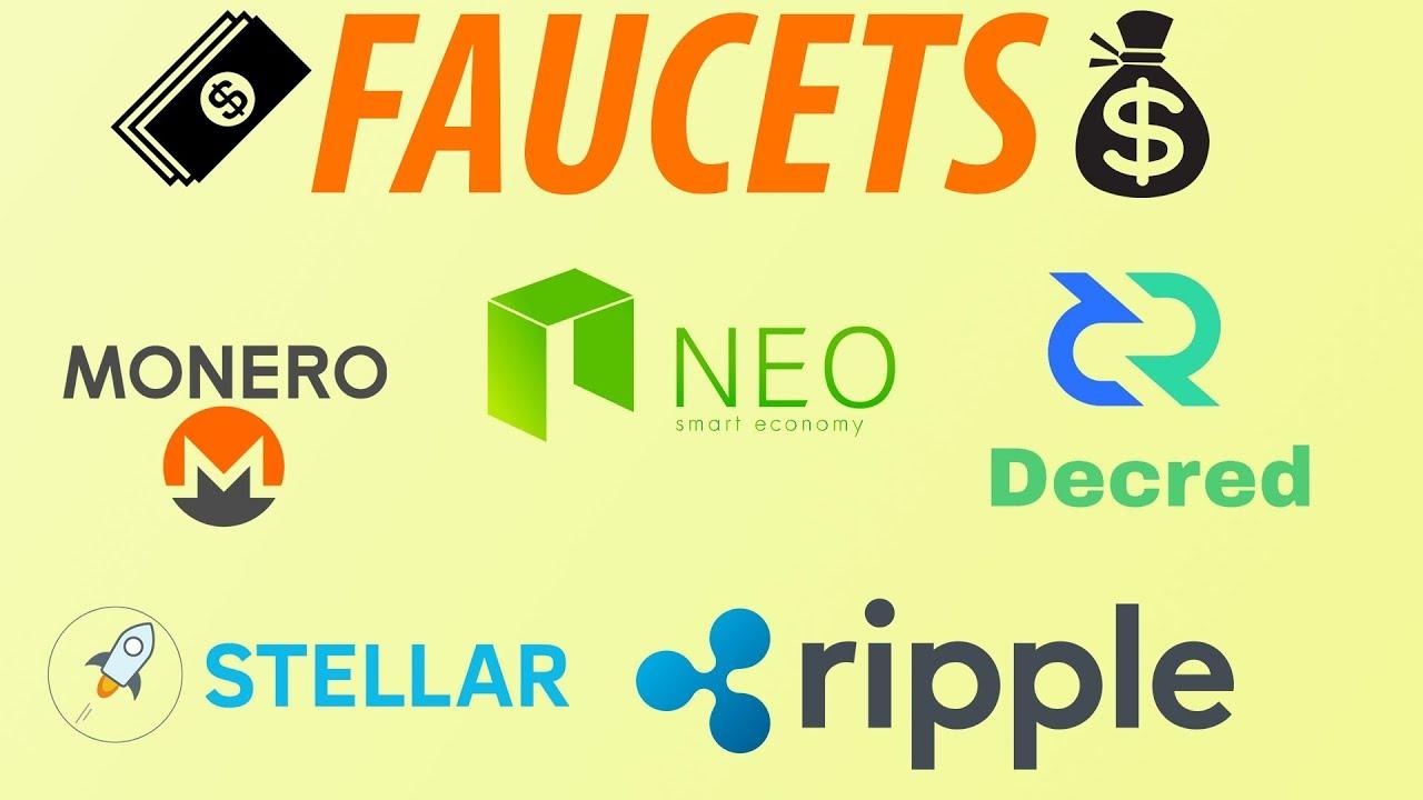 Faucets de NEO, RIPPLE, DECRED, MONERO, STELLAR e MUITAS OUTRAS criptomoedas!