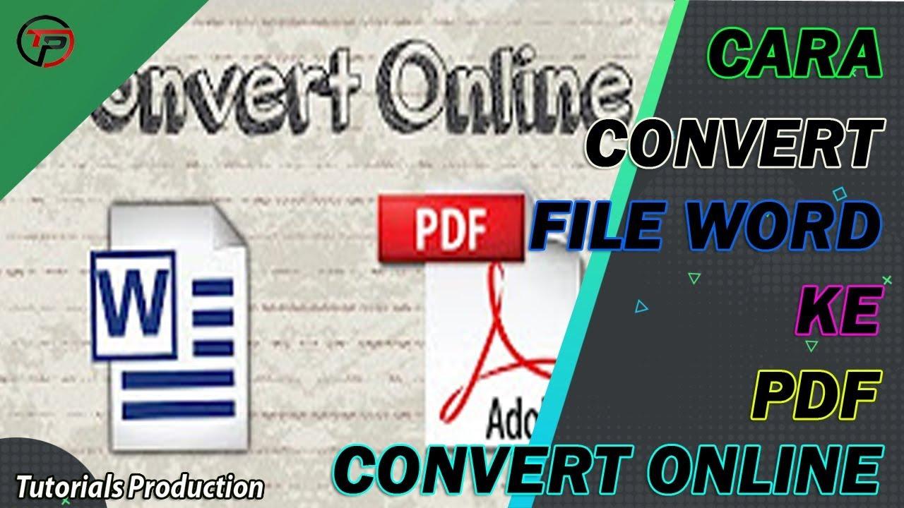 Cara convert word ke pdf offline