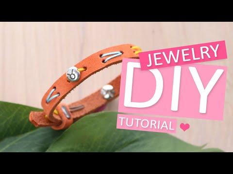DIY Tutorial - Besticktes Cuoio Armband mit DQ Perle - Machen Sie Ihren eigenen Schmuck