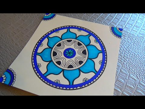 dessiner un mandala dessin et coloriage how to draw a mandala youtube. Black Bedroom Furniture Sets. Home Design Ideas