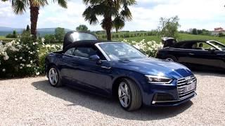 Ouverture et fermeture de la capote toile de l'Audi A5 Cabriolet