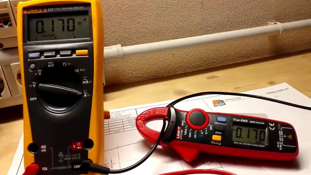 T210d Digital Ac Dc Voltage Resistance Clamp Meter : Uni t ut e dc current measurement youtube
