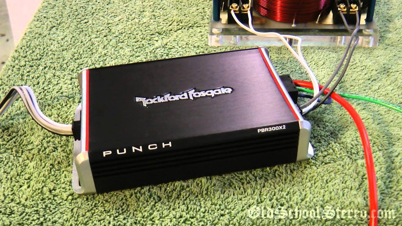 rockford fosgate pbr300x2 300 watt mini amp for car harley atv scooter [ 1280 x 720 Pixel ]