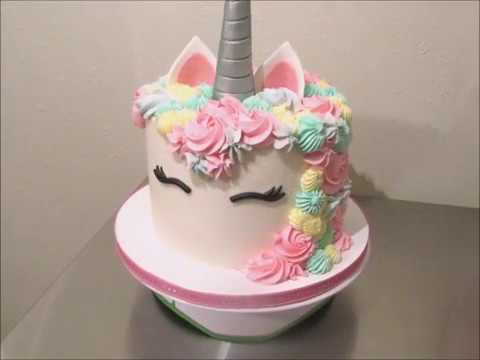 Unicorn Cake Time lapse (Fiesta Cakes By: Angie Credes