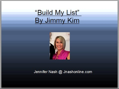 Build My List -  Build My list Review - Build My List  By Jimmy Kim Does it work?