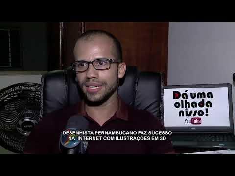 Desenhista pernambucano faz sucesso no YouTube