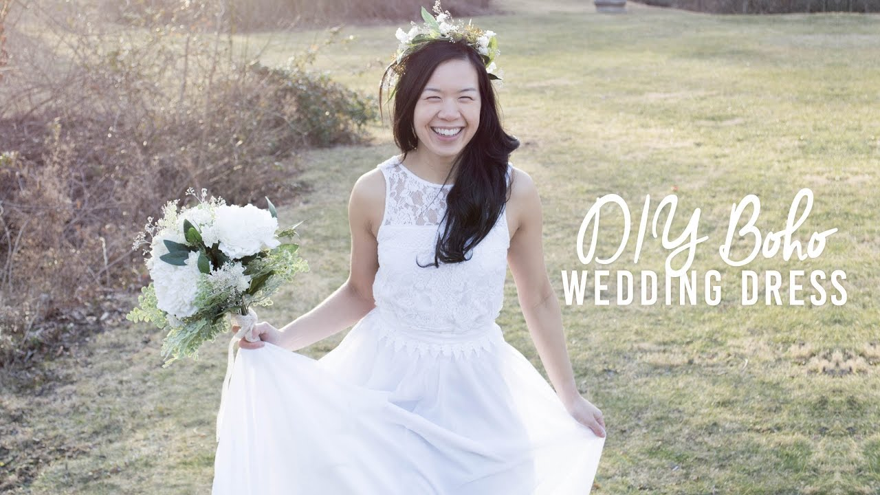 DIY Boho Wedding Dress