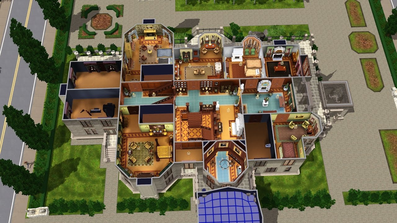 The sims 3 craigdarroch castle final part 38 for Final fortress blueprints