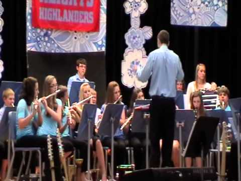 King Across the Water by Cambria Heights Middle School band