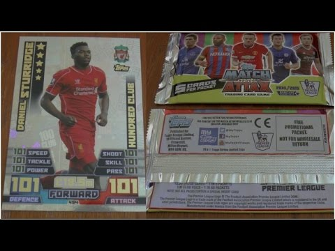 STURRIDGE 101 - 101 ☆ Topps MATCH ATTAX Premier League 2014/2015 Trading Cards ☆ 10x PACKS OPENED