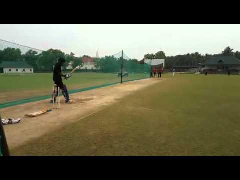 Sanju v Samson batting practice at Thumba KCA