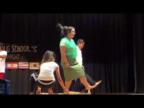 2018 Bell Middle School Culture Night - Tinikling Dance #JuStIn S.#