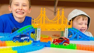 Magic Tracks RC Mega Set Remote Control Toy Cars Track Family Friendly Toys for Boys Kinder Playtime Video