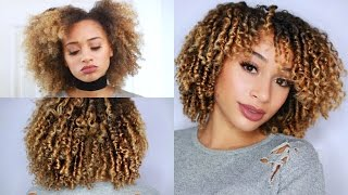 how to define style your curly hair finger coiling method
