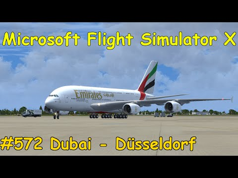 Let's Play Microsoft Flight Simulator X Teil 572 Dubai - Düsseldorf [1/5] Airbus A380 | Liongamer1