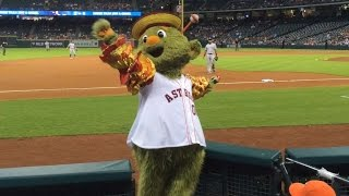 Orbit celebrates Cinco de Mayo before game