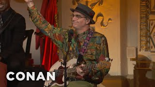 "The Bass Player From ""Seinfeld"" Sits In With The Band  - CONAN on TBS"