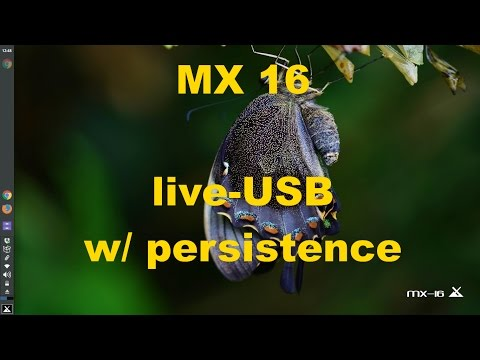 MX-16 live-USB with persistence