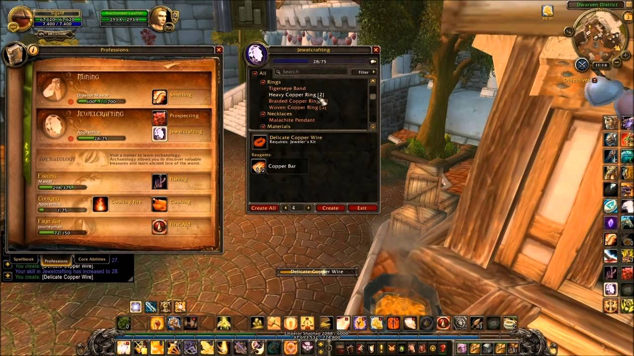 wow jewel crafting and prospecting youtube rh youtube com