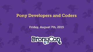 Pony Developers and Coders