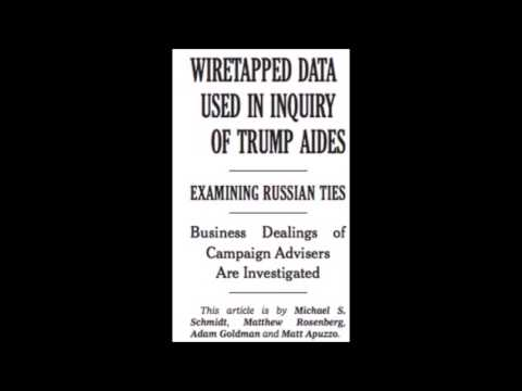 The New York Times Told Us Trump Was Wiretapped in January (Limbaugh)