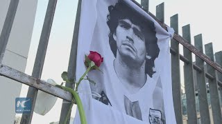 Fans mourn the loss of Maradona in Buenos Aires