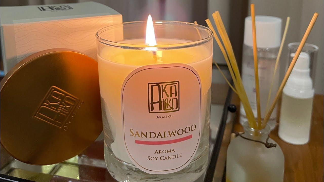 Short Review l Akaliko Sandalwood Soy Candle เทียนหอมไขถั่วเหลือง หอมแบบผ่อนคลายเหมือนสูดอากาศในป่า