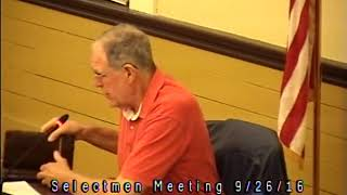 Acton, MA  Board of Selectmen Meeting 9/26/16