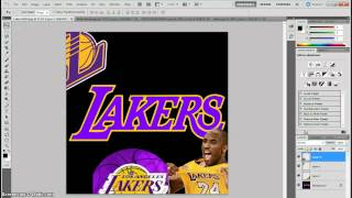 How to make a Lakers Poster