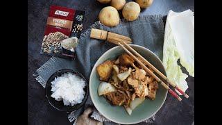 Co na obiad: Schab po chińsku  kapustą i ziemniakami