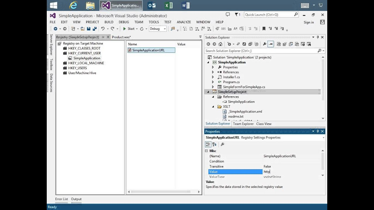 Build WiX setup projects using Visual Studio designers