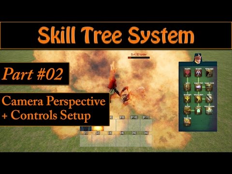 [Eng] Ability/Skill Tree System: Adding Controls and Adjusting the Camera #02