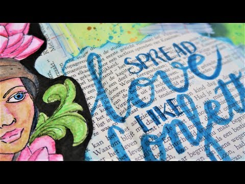 Take5 Art Journal Collaboration ~ Spread love like confetti