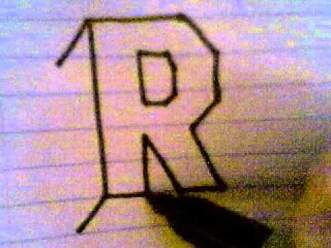 HOW TO DRAW 3D LETTERS ( R ) - YouTube