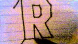 HOW TO DRAW 3D LETTERS ( R )