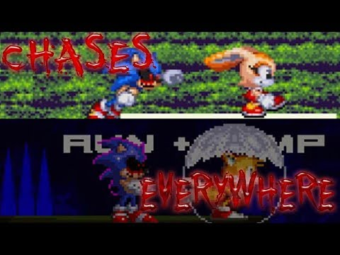 CHASES EVERYWHERE !/ Sonic.Exe After Fear (oof ending) And Sonic.Exe Round 2 Soul Ring (Good Ending)