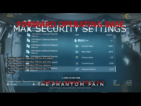 MGSV: TPP - Why You Should ALWAYS Put Max Security On Your FOB
