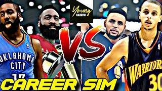 STEPHEN CURRY VS. JAMES HARDEN NBA CAREER SIMULATION ON NBA 2K18!! WHO IS BETTER?!?