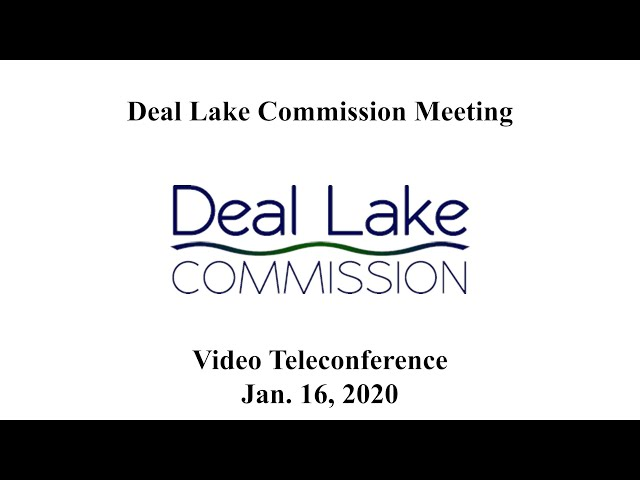 Deal Lake Commission Meeting - January 16, 2020