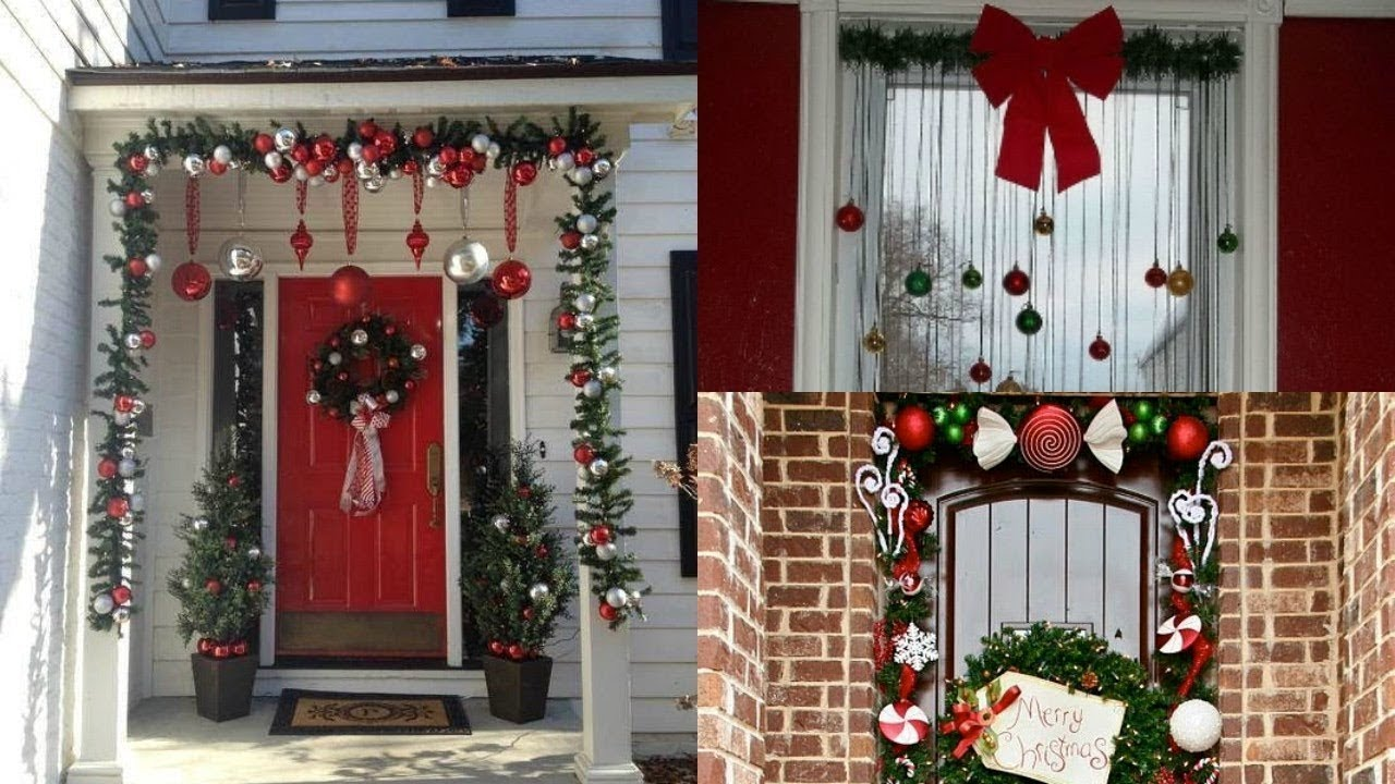 Decoracion de paredes y ventanas navidad 2018 2018 diy - Decoracion de navidad para oficina ...
