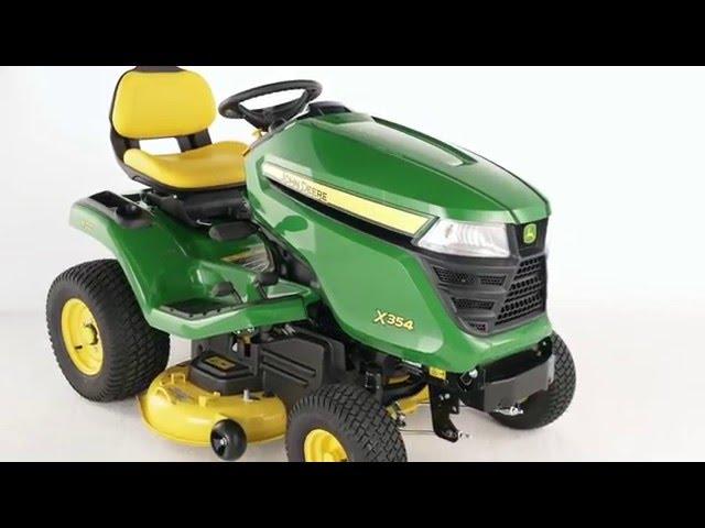 The John Deere X354 Lawn Tractor